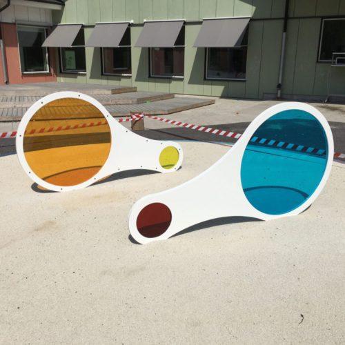 Förstoringsglas i olika färger